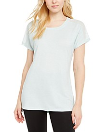 Mesh-Trimmed T-Shirt, Created for Macy's