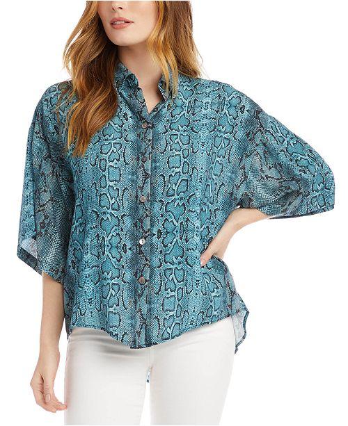 Karen Kane Printed Relaxed Shirt