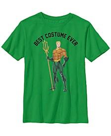 DC Comics Little and Big Boys Aquaman Best Costume Ever Short Sleeve T-Shirt