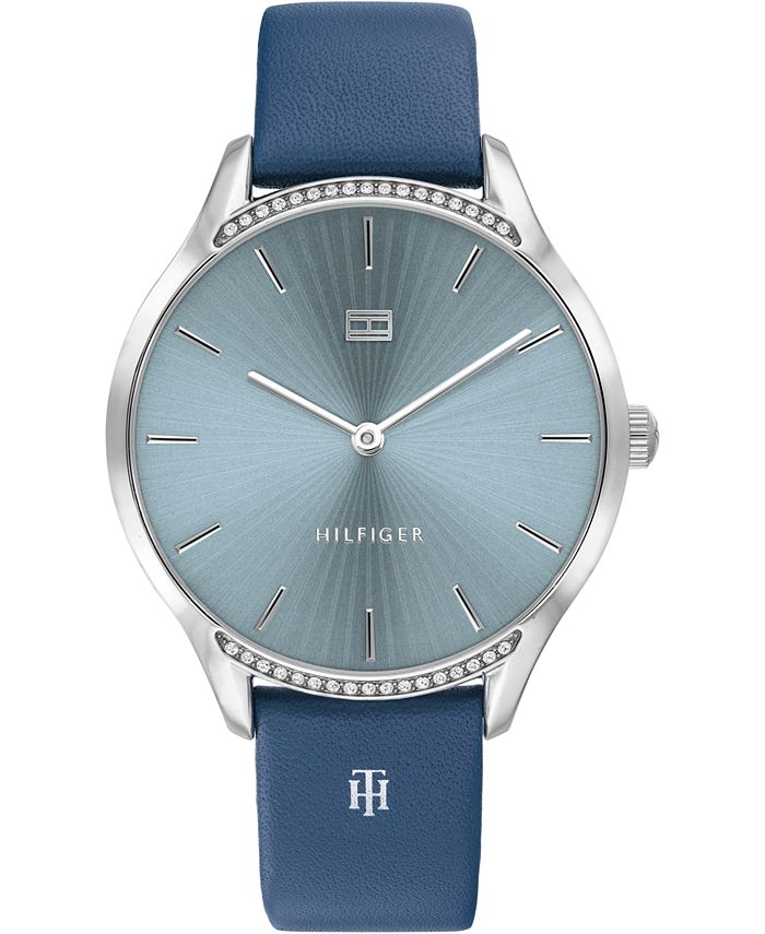 Tommy Hilfiger - Women's Blue Leather Strap Watch 36mm