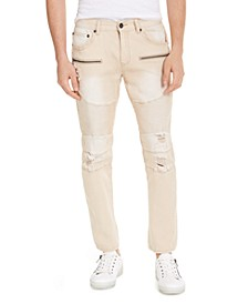 INC Men's Ripped Moto Skinny Jeans, Created For Macy's