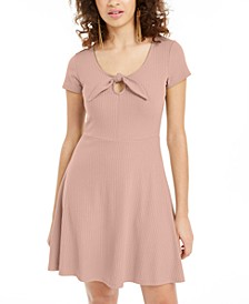 Juniors' Tie-Detail Skater Dress