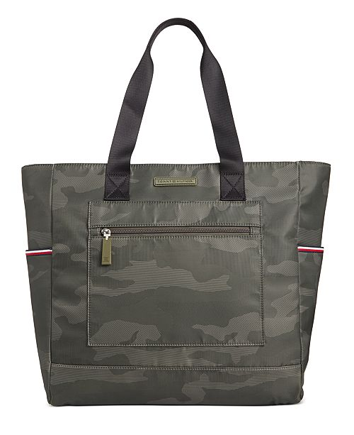Tommy Hilfiger Men's Alexander Camo Tote Bag