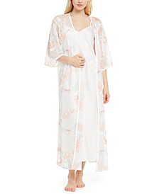 INC Embroidered Wrap Robe, Created for Macy's