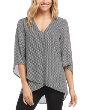 Karen Kane Tops BRACELET-SLEEVE ASYMMETRIC TOP