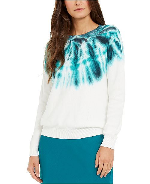 INC International Concepts INC Cotton Tie-Dye Sweater, Created For Macy's