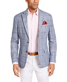 Men's Classic-Fit UltraFlex Stretch Windowpane Sport Coat