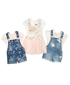 Toddler Girls T-Shirts, Shortalls & Skirtalls, Created for Macy's