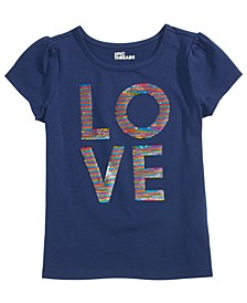 Little Girls Flip-Sequin Love T-Shirt, Created For Macy's