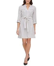 Striped Shirtdress