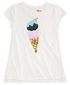 Big Girls Ice Cream Flip Sequin T-Shirt, Created for Macy's
