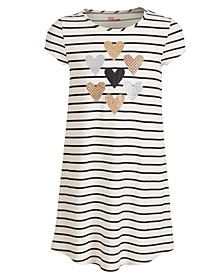 Big Girls Striped Hearts T-Shirt Dress, Created For Macy's