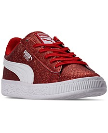 Little Girls Heritage Basket Glitz Casual Sneakers from Finish Line