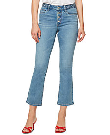 Sanctuary Braided-Waist Cropped Jeans