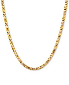 "Cuban Link 18"" Chain Necklace in 18k Gold-Plated Sterling Silver"
