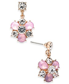 Gold-Tone Crystal & Stone Cluster Drop Earrings, Created for Macy's