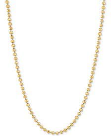"""Bead Link 18"""" Chain Necklace in 18k Gold-Plated Sterling Silver"""