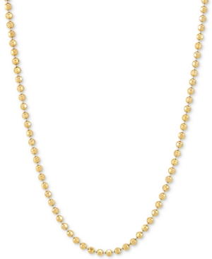 """Bead Link 20"""" Chain Necklace (2.5mm) in 18k Gold-Plated Sterling Silver"""