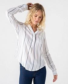 Thread Supply Striped 3/4 Button Down Shirt