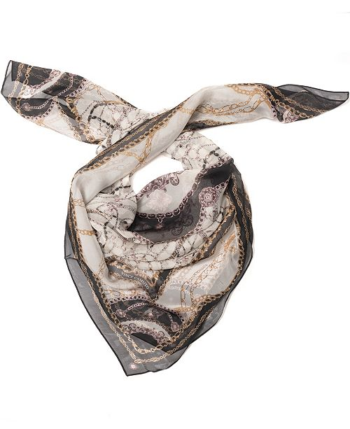 Vince Camuto Status Silk Chiffon Square Scarf