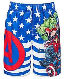 Little Boys Avengers Swim Trunks