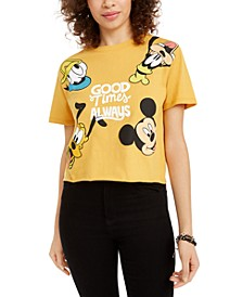 Juniors' Mickey Mouse Good Times Graphic T-Shirt