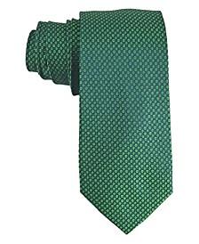 Men's Small Circle Design Silk Tie