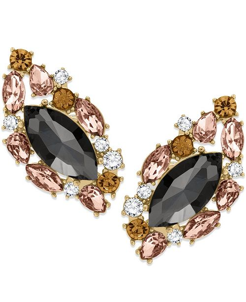 ZAXIE by Stefanie Taylor Zaxie Past Midnight Cluster Stone Stud Earrings