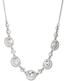 "Crystal Halo Statement Necklace, 16"" + 3"" extender"