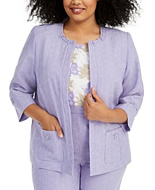 Plus Size Nantucket Open-Front Jacket