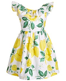 Big Girls Ruffled Lemon Dress