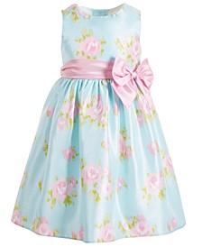 Little Girls Floral Shantung Dress