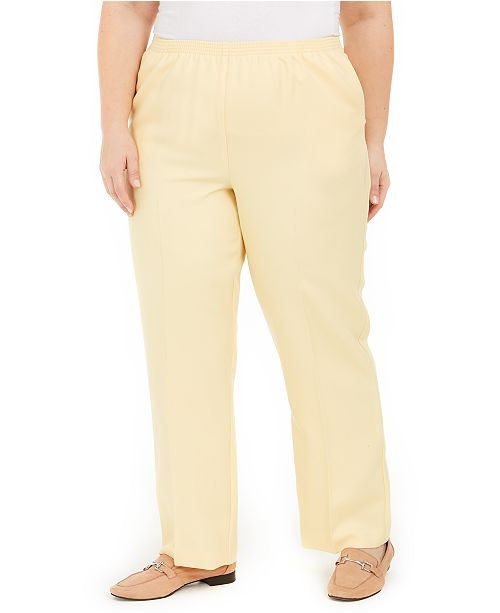 Alfred Dunner Plus Size Pull-On Pants