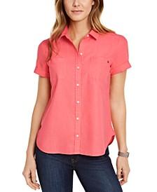 Linen & Cotton Camp Shirt