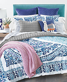 Whim by Martha Stewart Collection Valencia Mandala Bedding Collection, Created for Macy's