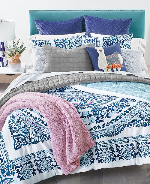 Martha Stewart Collection Valencia Mandala 3-Pc. Comforter Sets, Created for Macy's