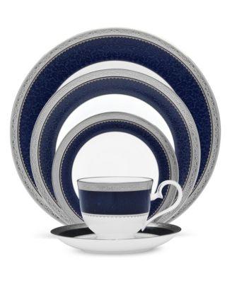 Odessa Cobalt Platinum Oval Platter, 14