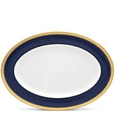 """Odessa Cobalt Gold Oval Platter, 16"""""""