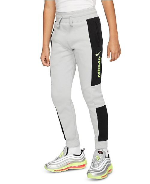 Nike Big Boys Colorblocked Fleece Jogger Pants
