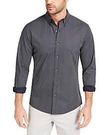 Men's Slim-Fit Stretch Geo-Print Shirt