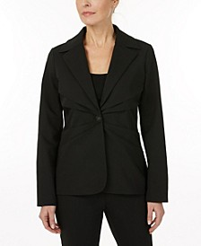blazer with pleating