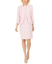 Stretch Crepe Sheath Dress and Long Sleeve Stretch Crepe Jacket