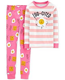 Little & Big Girls 2-Pc. Cotton Breakfast Pajamas Set