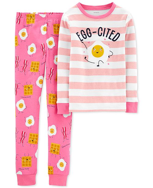 Carter's Little & Big Girls 2-Pc. Cotton Breakfast Pajamas Set
