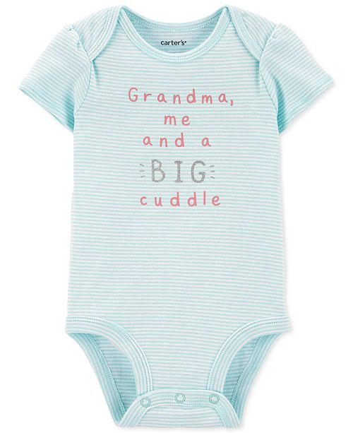 Carter's Baby Girls Big Cuddle Cotton Bodysuit