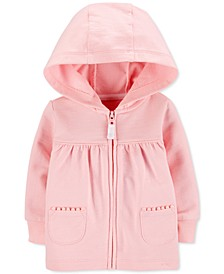 Baby Girls Zip-Up Cotton French Terry Hoodie