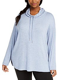 Plus Size Cowl-Neck Top