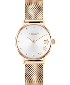 Women's Perry Rose Gold-Tone Stainless Steel Mesh Bracelet Watch 28mm