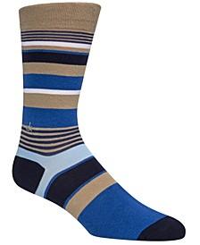 Men's Multi-Stripe Crew Socks