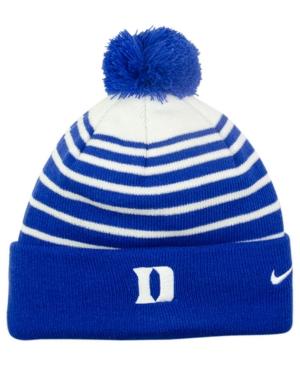 Nike Duke Blue Devils Sideline Cuffed Pom Knit Hat